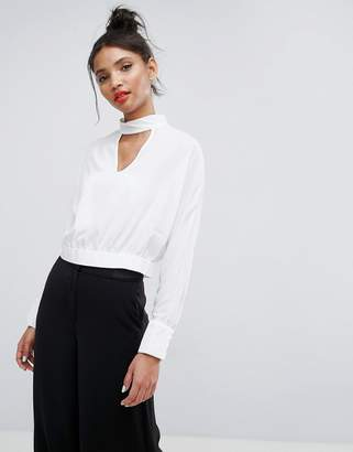ASOS Batwing Blouse With Choker Detail $48 thestylecure.com