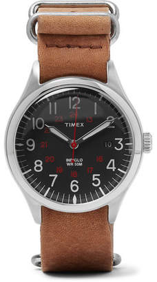Timex Waterbury United Stainless Steel and Stonewashed-Leather Watch - Tan
