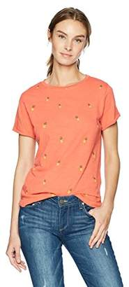 Lucky Brand Women's All Over Printed Pineapple TEE