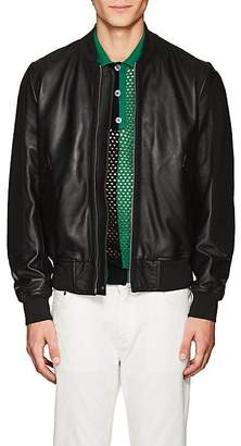 Paul Smith Men's Suede-Trimmed Leather Bomber Jacket