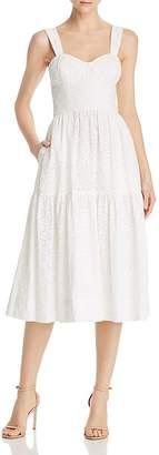 Rebecca Vallance Valentina Heart-Motif Eyelet-Lace Dress