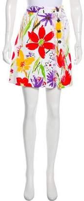 Dolce & Gabbana Floral Textured Mini Skirt