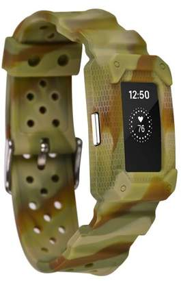 Fitbit Moretek for Charge 2 bands,Fitbit Charge 2 HR Strap(YellowCamo)