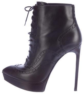 Saint LaurentSaint Laurent Lace-Up Brogue Ankle Boots