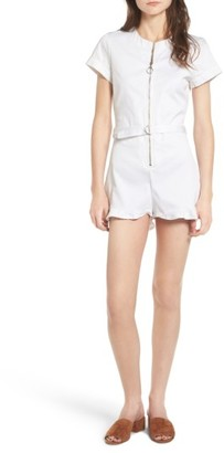 Women's Wildfox Doheny Front Zip Romper $198 thestylecure.com