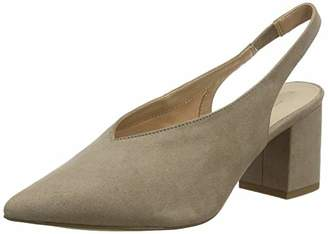 New Look Women's Riley Ankle Strap Heels, (Light Brown 21), 4 (37 EU)