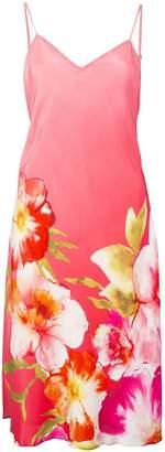 Josie Natori floral print midi dress