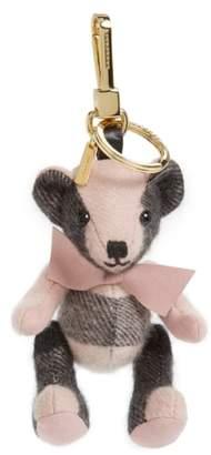 Burberry 'Thomas' Check Bear Cashmere Bag Charm