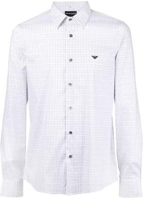 Emporio Armani logo embroidered shirt