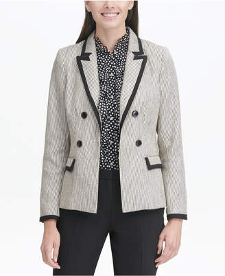 dc5f8e163c99e Tommy Hilfiger Faux Double-Breasted Tweed Blazer