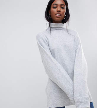 Asos Tall DESIGN Tall chunky sweater in oversize with high neck