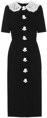 Dolce & Gabbana Wool-crêpe midi dress