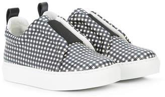 Pierre Hardy (ピエール アルディ) - Pierre Hardy check slip-on sneakers