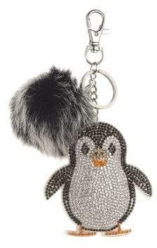 Original Penguin Bari Lynn Crystal Fox Fur Keychain