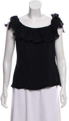 Gianni Versace Silk Off-the-Shoulder Blouse
