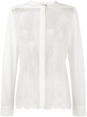 La Perla 'Leisuring' sheer lace detail shirt $1,631 thestylecure.com