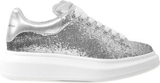 Alexander McQueen Glitter degrade sneaker $434 thestylecure.com