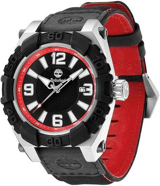 Timberland Men's Hookset Leather Strap Watch, 43mm