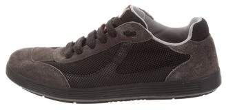 Prada Sport Suede-Trimmed Low-Top Sneakers