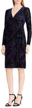 Ralph Lauren Faux-Wrap Velvet Dress