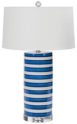 Striped Column Lamp - Hand Dipped Ceramic - Regina Andrew