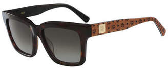 MCM Square Two-Tone Visetos Sunglasses