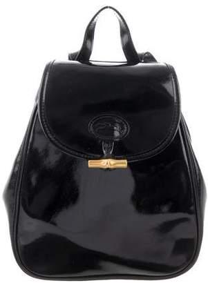 Longchamp Roseau Patent Leather Backpack