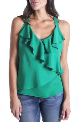 KUT from the Kloth SWAT FAME Delta Ruffled Top