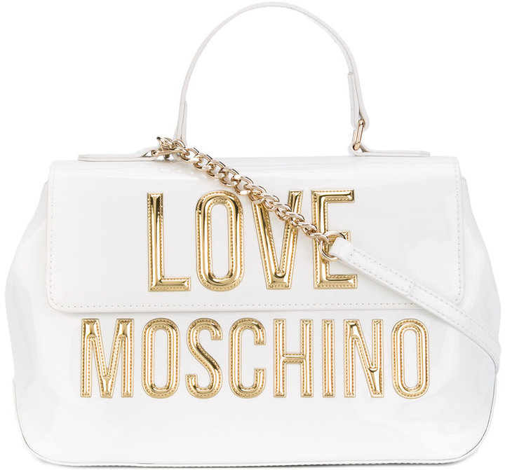 Love Moschino Love Moschino metallic logo fold-over tote