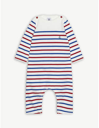 Petit Bateau Striped cotton all-in-one 3-24 months