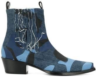 Diesel Red Tag x Shayne Oliver denim boots