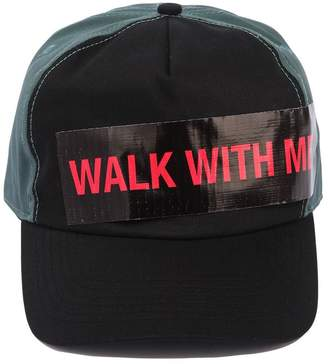 Raf Simons Cotton Baseball Hat W/ Walk With Me Tape