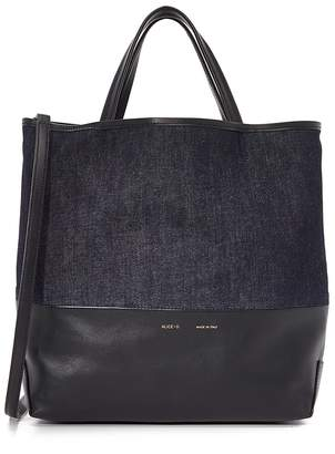 Alice.D Large Denim and Leather Tote $495 thestylecure.com