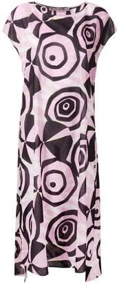 Marni geometric flared dress