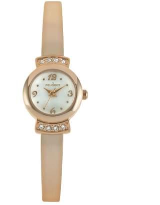 Peugeot Women's Crystal Half Bangle Watch