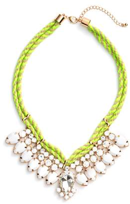 Adia Kibur Teardrop Rope Necklace