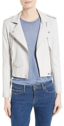 Women's Iro 'Ashville' Lambskin Leather Moto Jacket $1,201 thestylecure.com