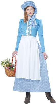 California Costumes Women's Pioneer Woman Costume, Blue/White