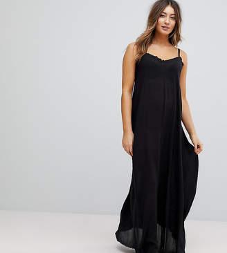 Asos Scoop Back Maxi Dress In Crinkle