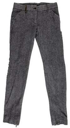 Dolce & Gabbana Virgin Wool & Cashmere-Blend Skinny Pants