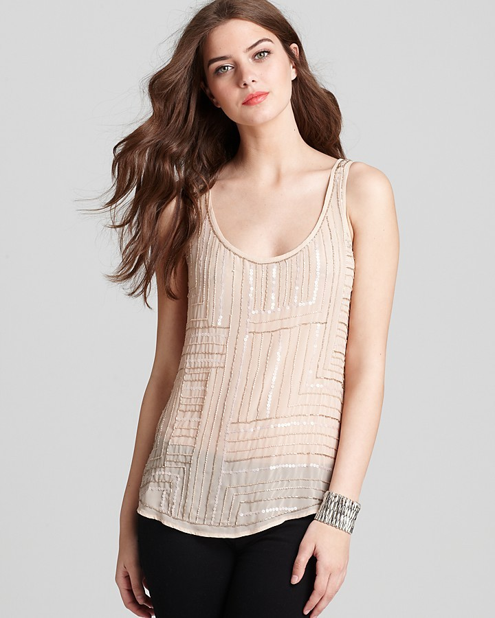 GUESS Tank - Illusion Beaded Shell