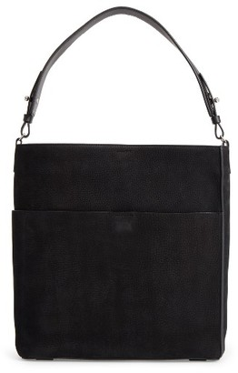 Allsaints Echo North/south Calfskin Tote - Black $298 thestylecure.com