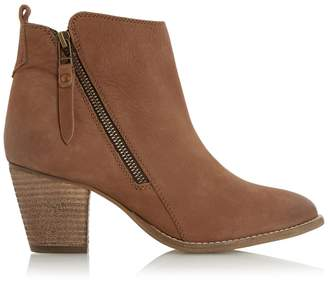 Dune London Pontoon Leather Ankle Boots