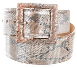 W.KLEINBERG W. Kleinberg Metallic Waist Belt