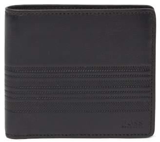 BOSS Leather Credit Card Holder & Wallet Set