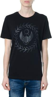 Frankie Morello Front Embroidery Black Cotton T-shirt