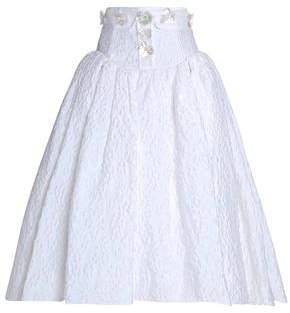 DELPOZO Embellished Jacquard Midi Skirt