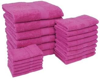 ADI Jumbo 20 Piece Towel Set in Lipstick