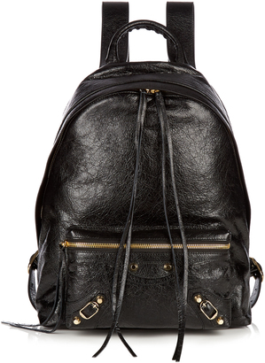 BALENCIAGA Classic Arena leather backpack $1,695 thestylecure.com