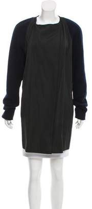 Ter Et Bantine Collarless Knee-Length Coat